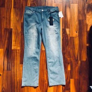 NWT Diane Gilman Plus Jeans Slim Boot 18 w